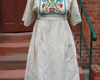 Vintage 70s years dress, embroidered from my mom