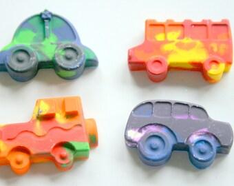 Car Crayons - Jeep Crayon - Crayons for kids - Birthday Party Favor - Kids Party Favor - Boy Birthday Gift - School Bus crayon - Crayons