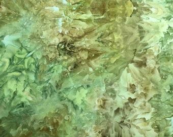 Hand Dyed, Ice Dyed Fabric, Cactus Flora, Fat Quarter (MB) #1