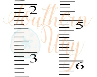Ruler Decal Etsy - Ruler growth chart vinyl decal