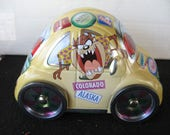 Vintage Collectible Tazmobile Tweety Bird,Taz, Volkswagen Tin