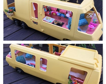 Barbie Doll House RETRO RV Room Furniture & Accessories Travel Car Motorhome