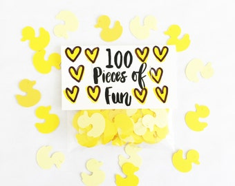 Duck confetti, rubber ducky, duck cut out, ducky, yellow ducks, yellow baby shower, ducks, baby shower, baby birthday, yellow, baby, party