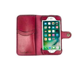 iPhone 7 Wallet Phone Case / iPhone 7 Leather Case / Leather iPhone case / iPhone 7 case / iPhone 7 wallet / leather phone case / handmade