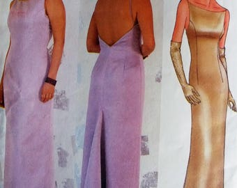 Butterick 6872 Sewing Pattern for Elegant Prom Bridesmaid Evening Dress Gown Sizes 12 14 16 Uncut