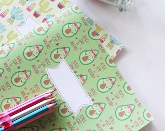Set 2 Surprise notes formato A4- cactus e avocado