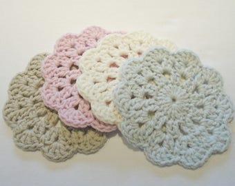Pretty Crochet Coasters - Shabby Chic Inspired - Birthday Gift - Mothers Day