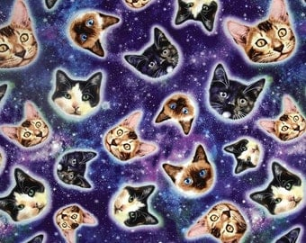 Timeless Treasures - Galaxy Cats