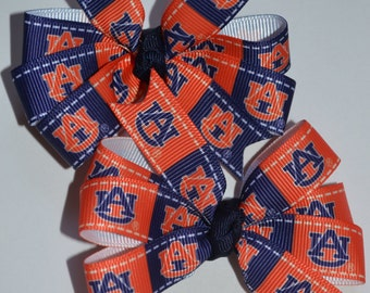 Set of Two Auburn Tigers Hair Bows