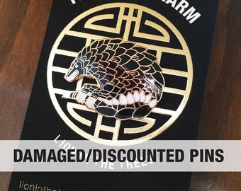 DAMAGED Pangolin Charm Enamel Pin