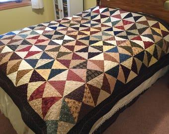Scrappy Hourglass Bed Quilt