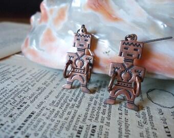 Copper Navajo Man Earrings