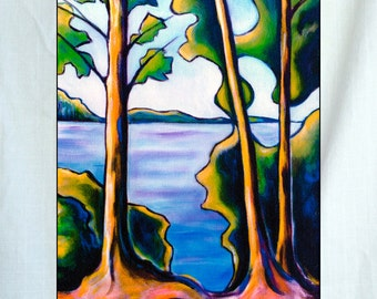 Lake View Small Canvas Wall Art 6x8x1.5 in.