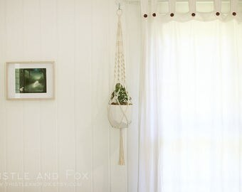 Large Macrame Plant Hanger - Serene, Natural Cotton Rope Hanger, Hanging Planter | Free Shipping Australia