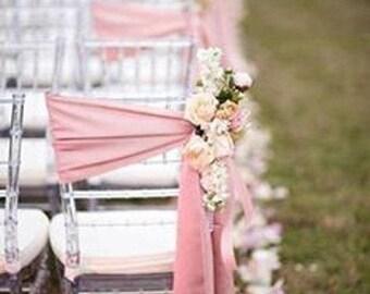 Chair Sashes Blush Pink  Wedding Chair Sashes Chair Bows SatinPew Bows Party Bows Event