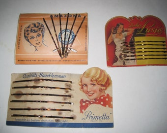 Vintage Bobby Pin Cards 1940s/30s