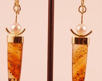 MONTANA AGATE EARRINGS in 18k gold