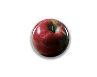 1 Inch Pinback Button Original - Red Apple