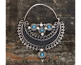 Gypsy Hoops (sterling and turquoise)