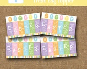 Easter Scripture Treat Bag Topper   Happy Easter Bible Goody Bag   Resurrection Treat Label   DIY PRINTABLE   Sunday School Easter Cards