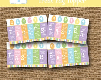 Easter treat bag etsy easter scripture treat bag topper happy easter goody bag resurrection treat label diy negle Image collections