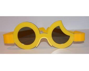 Sun crescent moon anime yellow cosplay costume glasses printed hinge version