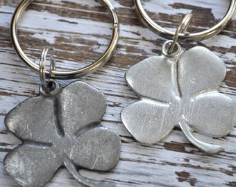 lucky four leaf clover keychain, Irish keychain, talisman, good luck charm, Irish symbol, Irish key ring, St Patricks Day, good luck charm