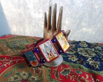Vishnu Wooden Devotional Bracelet.