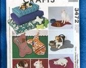 McCall's 3472  Modern Cat & Dog Beds UNCUT