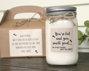 Valentines Day Gift for Him / Soy Candle / Anniversary gift / Gift for Him / Gift for Husband / Gift for Boyfriend / Hot & Sexy Gift Candle