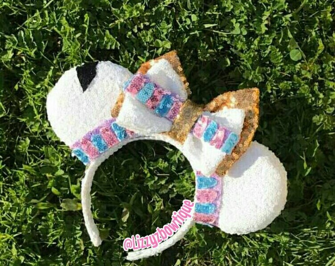 Beauty and the Beast Chip Tea Cup Sequin Minnie ears