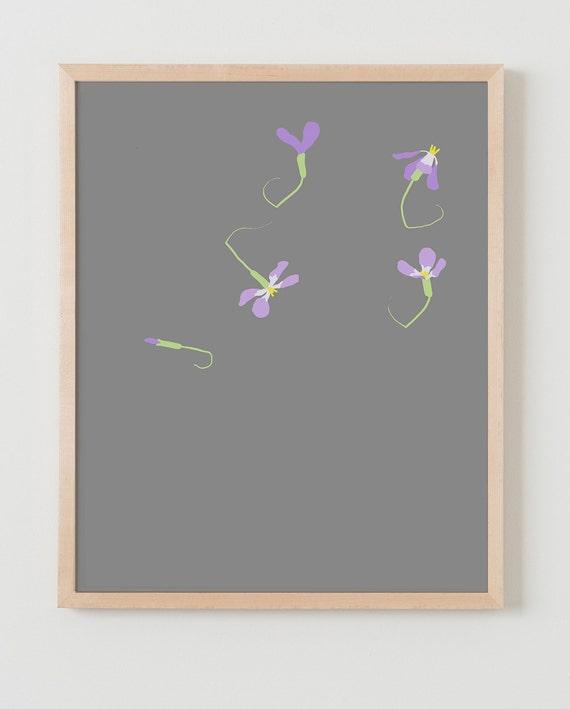 Fine Art Print. Purple Wildflowers. April 1, 2015.
