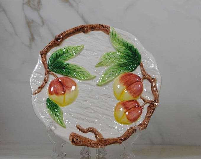 Vintage Fitz & Floyd Ceramic Fruit Plate, OCI Omnibus