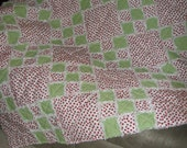 Simple 9 Patch Irish Chain Rag Quilt Mailed Paper Pattern by Sew Practical, Mom and Pop Craft