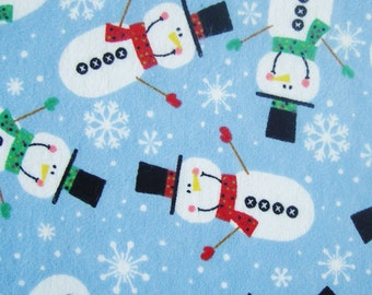 Holiday Inspirations - Christmas Snowman Flannel - 30 inches