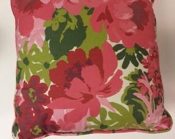 Set of 2 Vintage Pink floral pillows