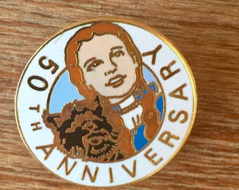 Wizard of Oz 50th Anniversary Pin with Dorothy and Toto, Free Shipping