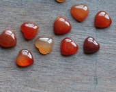 Carnelian Stone Shaped Heart Cabochon S10