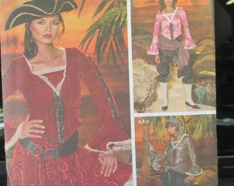 Halloween Pirate Costmes Paper Pattern Simplicity 4914 Adult size Misses' 6-12   un-cut paper pattern