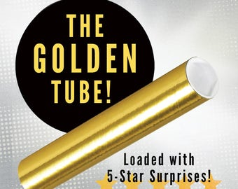 THE GOLDEN TUBE! Superior Fun! Amazing Mystery! Fun! Surprises Inside! Art and Design Prints by Rob Ozborne