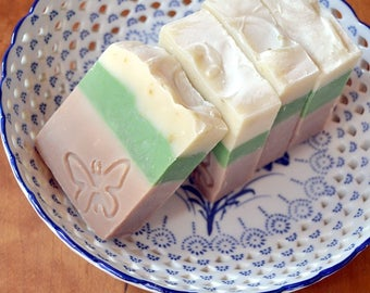 Coconut and Lime Soap -  Handmade soap with Shea and Cocoa Butter -  Handmade in BC, Canada