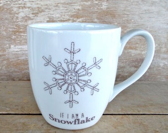 Snowflake Avalanche Mug, Liberal Progressive Activism, 16 oz Activist Coffee Mug, Inspirational, Womens March, Resist, Insult, Ready to Ship
