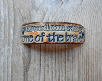 God Bless the USA  bracelet bar patriotic