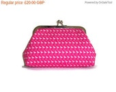 On Sale Large Pink Framed Clutch Purse - Cosmetic Purse - Bridesmaid Gift -  UK Seller