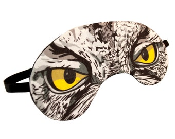 Owl Sleep Mask - Canvas, Hand-made, A Great Gift for Easter, Mother's Day, Gift for Her, Girlfriend, Boyfriend, Birthday, Anniversary