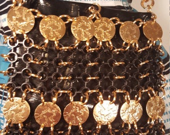 Vintage 1960's Robert Bastien Originals Gold Chain Link Coin Handbag