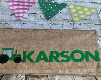 Personalized Tractor Towel