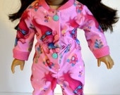 Reserved for Kim - 18 Inch Doll Pink Footie Pajamas fits American Girl