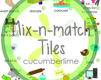 Mix-n-match Tile Magnets