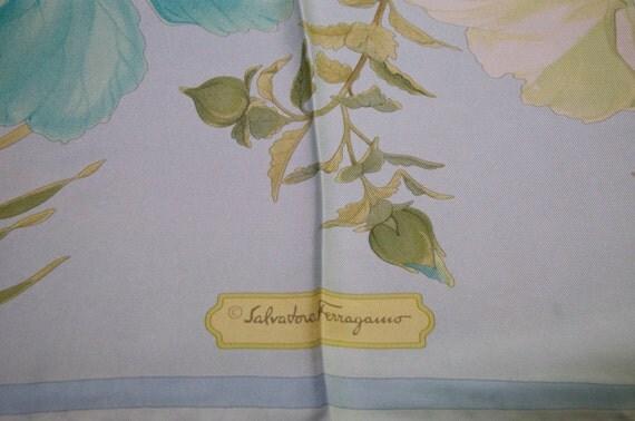 Authentic Salvatore Ferragamo Silk Hibiscus Scarf